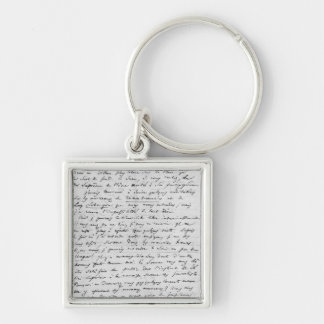 Letter to Richard Wagner  17th February 1860 Silver-Colored Square Key Ring