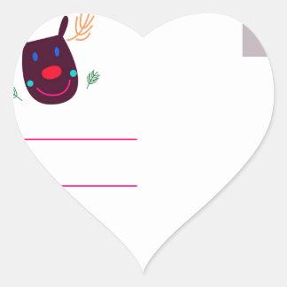 Letter to Santa I Heart Sticker