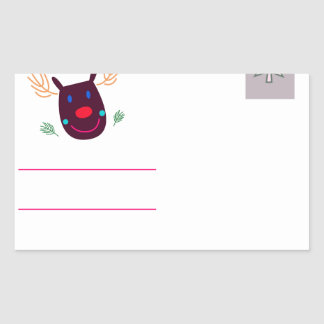 Letter to Santa I Rectangular Sticker