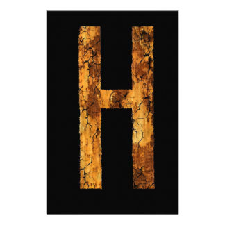 Letter Typo H Stationery Paper