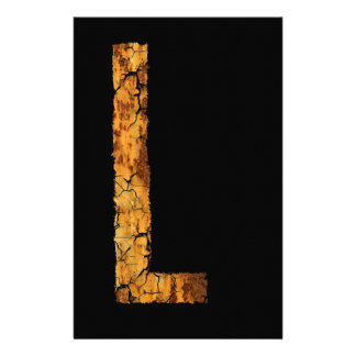 Letter Typo L Customized Stationery