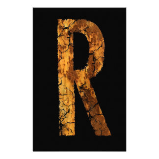 Letter Typo R Personalised Stationery