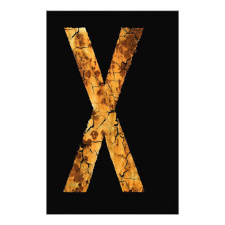 Letter Typo X Personalized Stationery