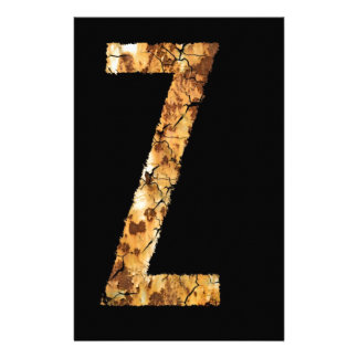 Letter Typo Z Personalised Stationery