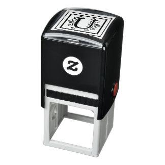 Letter U Monogram Self-inking Stamp