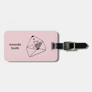 Letter with love | Romantic style Luggage Tag