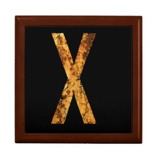 Letter X Large Square Gift Box
