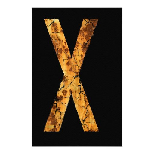 Letter X Stationery