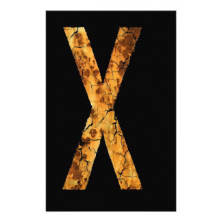 Letter X Stationery Design