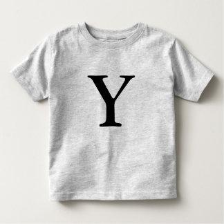 Letter Y monogrammed black initial t shirt