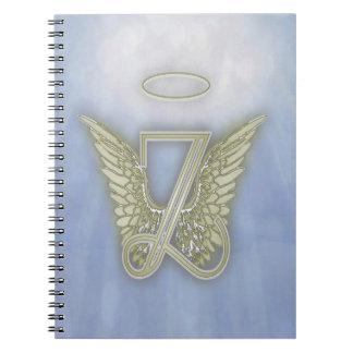 Letter Z Angel Monogram Spiral Notebook