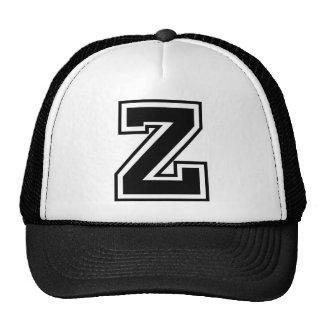 """Letter """"Z"""" monogram Trucker Hats"""