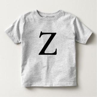Letter Z monogrammed black inital t shirt