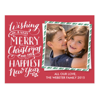 Lettered Christmas Collection Postcard