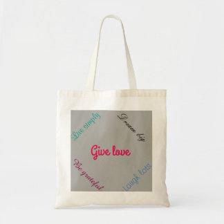 Lettered handbag