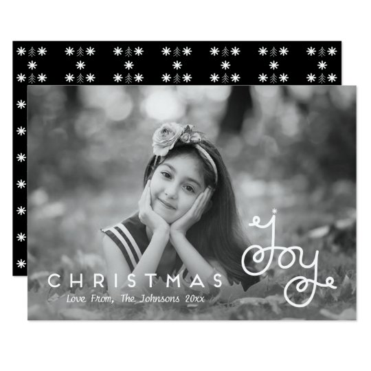 Lettered Joy Script | Christmas Holiday Photo Card