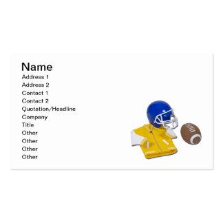 Letterman Jacket Football Helmet Ball Business Card Templates