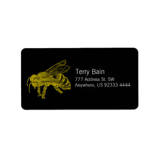 Letterpress Bee Address Label