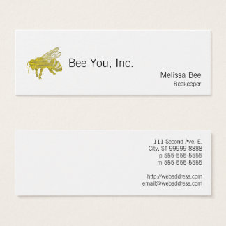 Letterpress Bee Mini Business Card