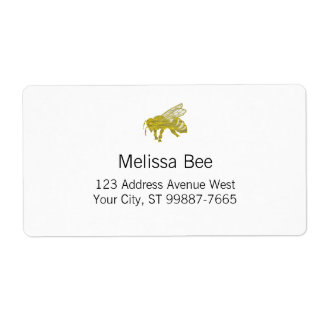 Letterpress Bee Shipping Label