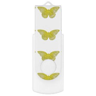 Letterpress Butterfly USB Flash Drive