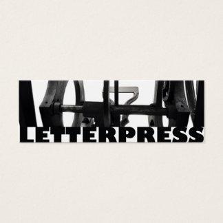 letterpress from below bookmark mini business card