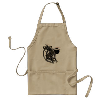 letterpress machine khaki apron