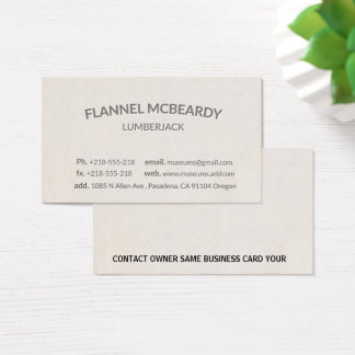 Letterpress Modern Professional Business Card