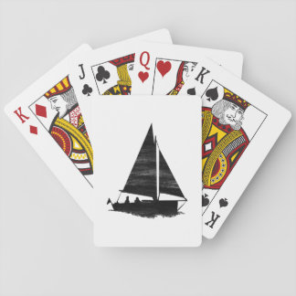 Letterpress Style Sailboat Playing Cards