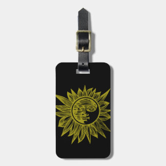 Letterpress Style Sun Luggage Tag