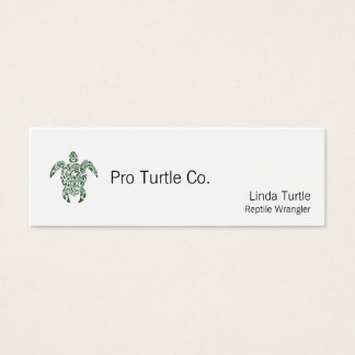 Letterpress Tribal Style Turtle Mini Business Card