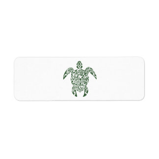 Letterpress Tribal Style Turtle Return Address Label