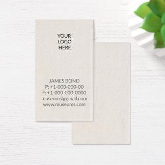 Letterpress Your Logo Simple Business Card