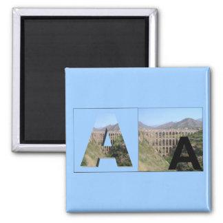 Letters - A - Aquaduct Square Magnet