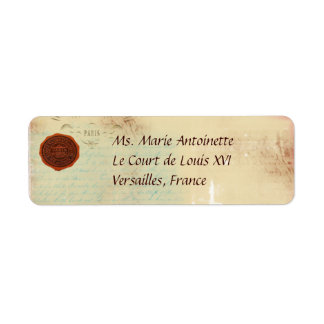 Letters from Paris Custom Personal Address Labels