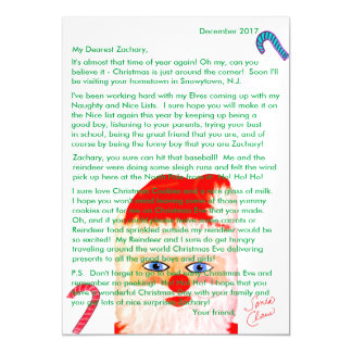 Letters from Santa Personalised Letter Magnetic Card