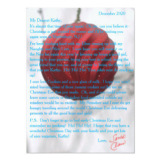 Letters from Santa Red Ornament Card