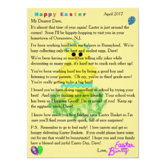 Letters from the Easter Bunny Cute Blue Chick Egg Card