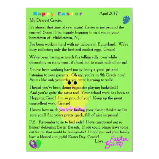 Letters from the Easter Bunny Pink Chick Egg Card