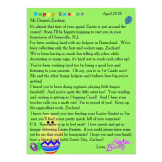 Letters from the Easter Bunny Striped Chick Egg Card