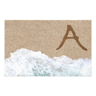 LETTERS IN THE SAND A CUSTOMIZED STATIONERY