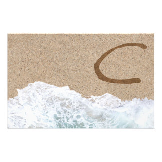 LETTERS IN THE SAND C STATIONERY
