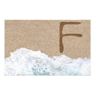 LETTERS IN THE SAND F STATIONERY