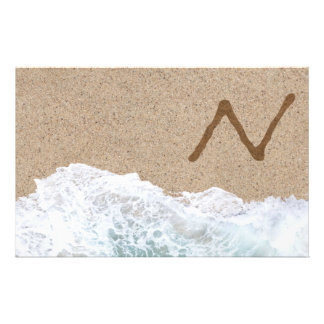LETTERS IN THE SAND N STATIONERY DESIGN