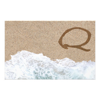 LETTERS IN THE SAND Q STATIONERY PAPER
