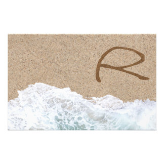 LETTERS IN THE SAND R CUSTOMIZED STATIONERY