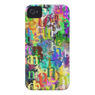 Letters iPhone 4 Case-Mate Case