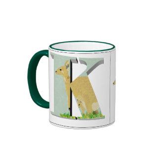 Letters - K - Kangaroo Mug