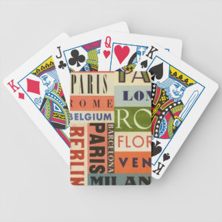Letters of Poker - It travels to Europe Bicycle Playing Cards