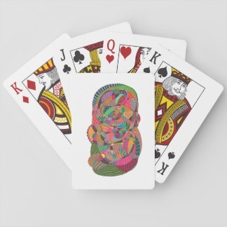 Letters of Poker with Design of Abstract Ink Playing Cards